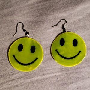 Handmade Punk Vintage-Inspired Smiley Earrings
